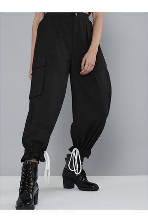 Sassafras Women Joggers - Women Black Pure Cotton Solid Joggers