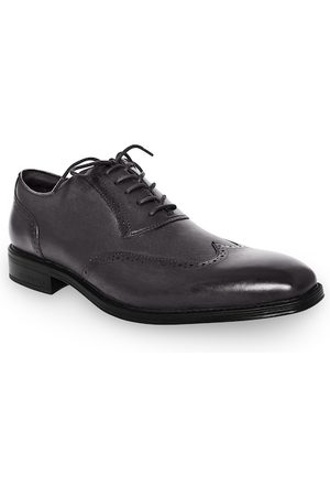 Kenneth Cole Men Grey Solid Leather Formal Brogues