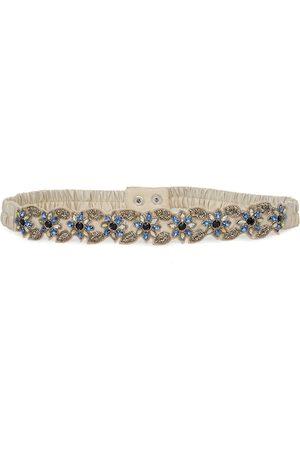 Diwaah Women Beige & Blue Embellished Belt