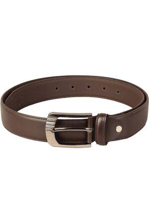 Scharf Men Belts - Men Brown Leather Solid Belt