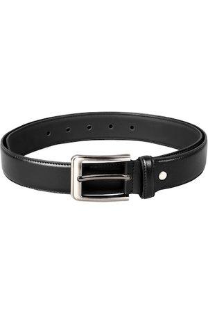 Scharf Men Black Genuine Leather Belt