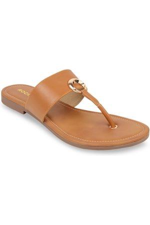 Rocia Women Tan Solid Open Toe Flats