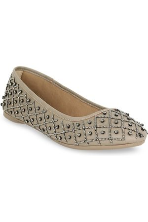 marie claire Women Grey Embellished Ballerinas
