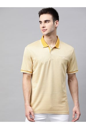Marks & Spencer Men Yellow Solid Polo Collar T-shirt