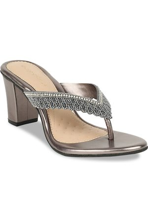 marie claire Women Grey Embellished Heels