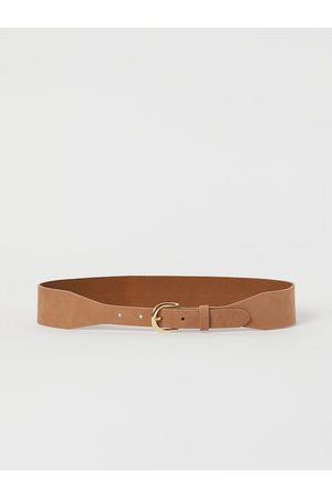 H&M Women Beige Solid Leather Waist Belt