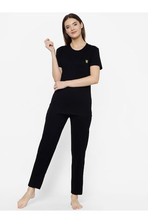 VIMAL JONNEY Women Black Solid Night suit