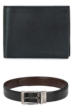 Calvadoss Men Belts - Men Black Premium Belt & Wallet Gift Set