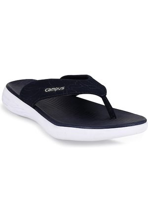 Campus Men Navy Blue Solid Thong Flip-Flops