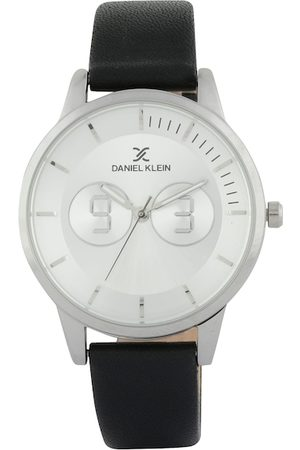 Daniel Klein Women Silver-Toned & Black Analogue Watch DK11562-1