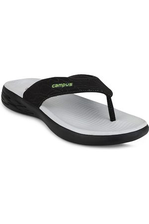 Campus Men Black Solid Thong Flip-Flops