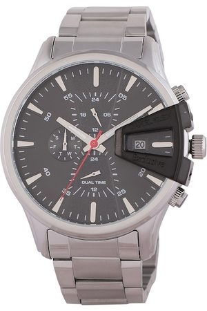 Daniel Klein Men Silver-Toned & Black Analogue Watch DK.1.12388-1