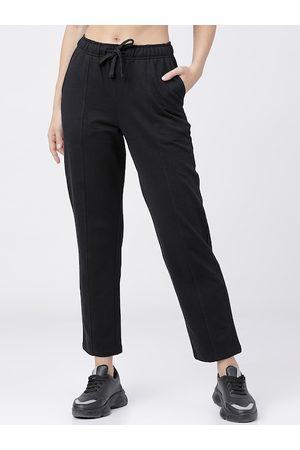 Tokyo Talkies Women Black Solid Track Pants
