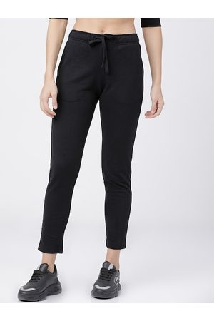 Tokyo Talkies Women Black Solid Slim-Fit Track Pants