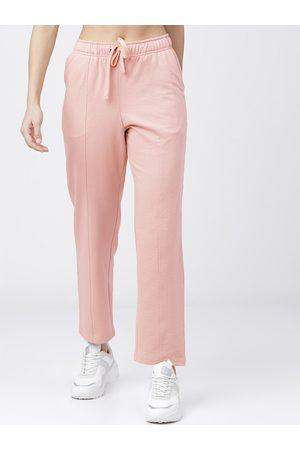 Tokyo Talkies Women Pink Solid Track Pants