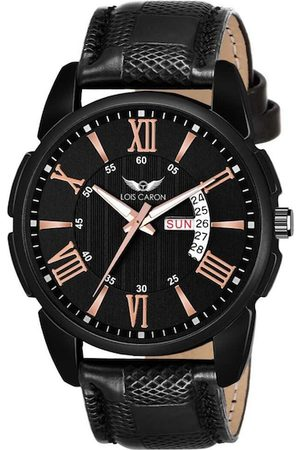 LOIS CARON Men Black Analogue Watch MLC-8199