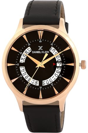Daniel Klein Men Black & Gold-Toned Analogue Watch