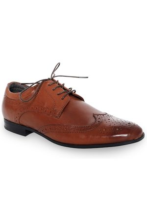 Kenneth Cole Men Brown Solid Leather Formal Brogues