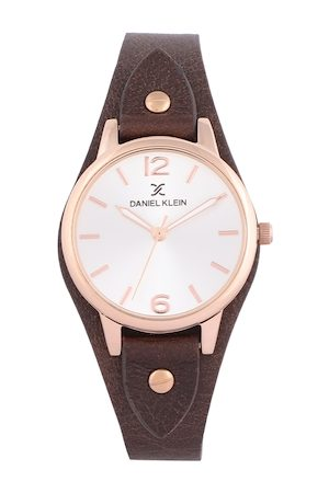 Daniel Klein Women Silver-Toned & Brown Analogue Watch