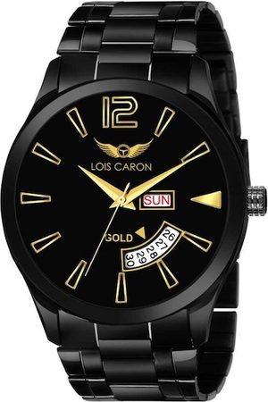 LOIS CARON Men Black Analogue Watch