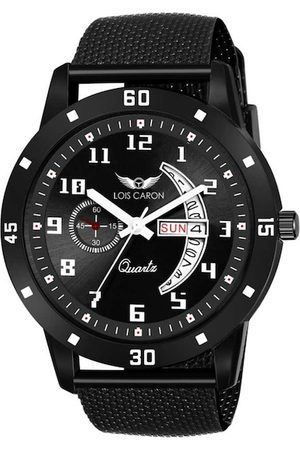 LOIS CARON Men Black Analogue Watch MLC-8184