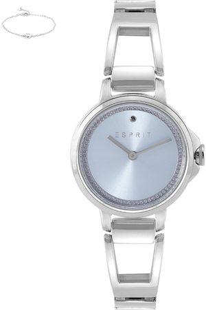 Esprit Women Blue Analogue Watch & Bracelet Gift Set ES1L146M0055
