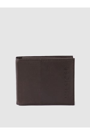 Tommy Hilfiger Men Coffee Brown Leather Solid Two Fold Wallet with Detachable Flap
