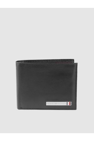 Tommy Hilfiger Men Wallets - Men Black Solid Leather Two Fold Wallet