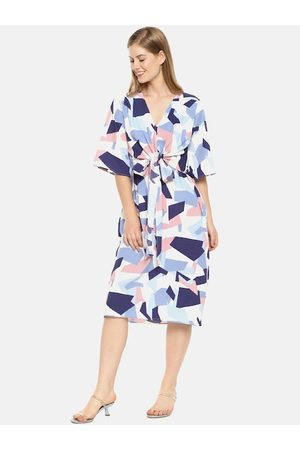 Campus Women Multicoloured Printed A-Line Dress