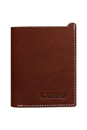 ABYS Men Brown Solid Card Holder