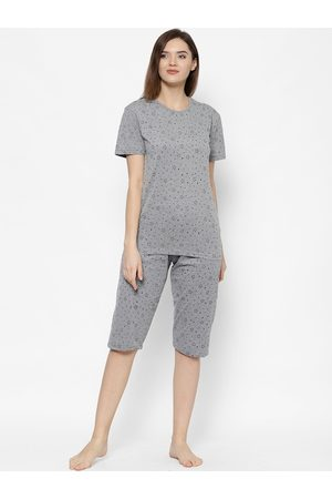 VIMAL JONNEY Women Grey Printed Night suit