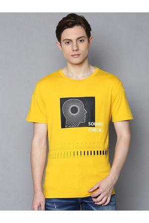 Antony Morato Men Yellow Printed Round Neck T-shirt