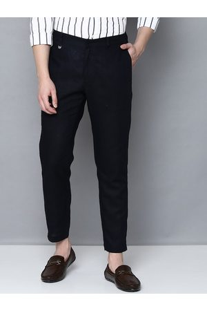 Antony Morato Men Blue Slim Fit Solid Formal Trousers
