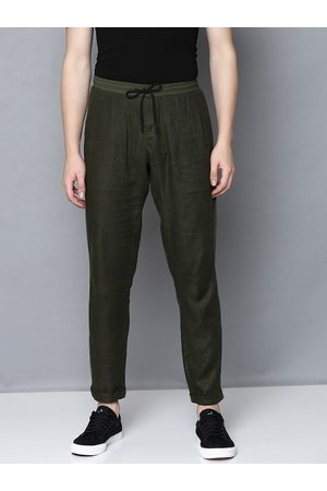 Antony Morato Men Olive Green Regular Fit Solid Regular Trousers
