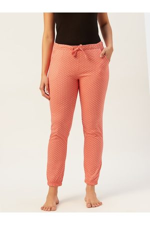 Sweet Dreams Women Assorted Printed Knitted Pure Cotton Lounge Pants