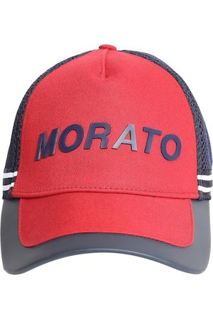 Antony Morato Men Red & Navy Blue Colourblocked Snapback Cap