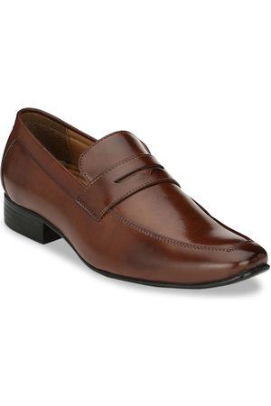Ferraiolo Men Loafers - Men Brown Solid Formal Loafers