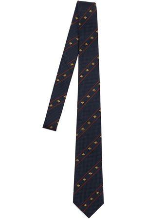 Gucci Men Neckties - 7cm Bee Web Silk Tie