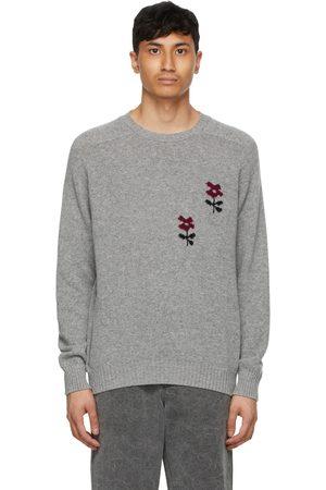 Noah Grey Intarsia Flower Sweater