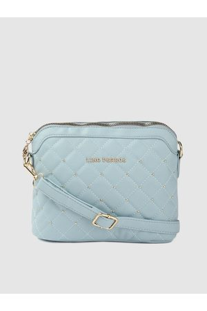 Lino Perros Women Blue Quilted Sling Bag