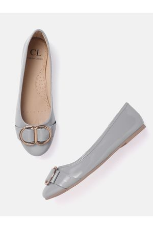 Carlton London Women Grey Solid Ballerinas
