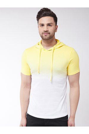 GRITSTONES Men Yellow Dyed Hood T-shirt