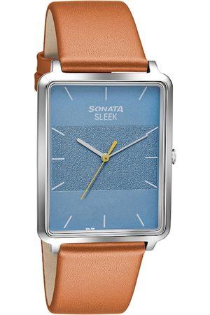 Sonata Men Blue Analogue Watch 7144SL02