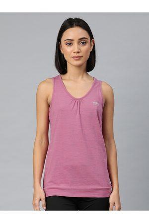 Van Heusen Women Pink Solid Yoga T-shirt