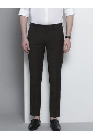 Tommy Hilfiger Men Black Slim Fit Solid Regular Trousers