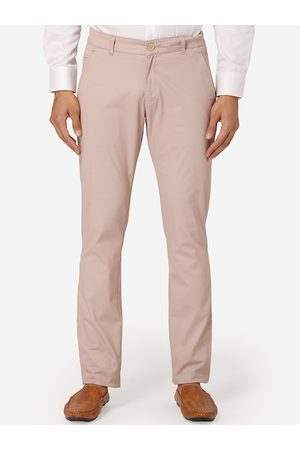 Wintage Men Pink Regular Fit Solid Chinos