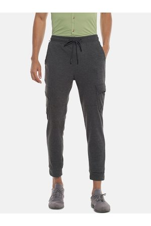 Campus Men Grey Solid Joggers