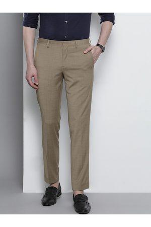 Tommy Hilfiger Men Beige Slim Fit Solid Regular Trousers