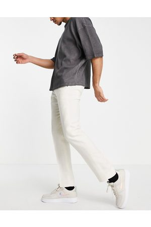 Twisted Tailor Linen suit trousers in stone white