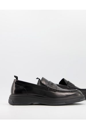 Calvin Klein Pegasus penny loafers in leather